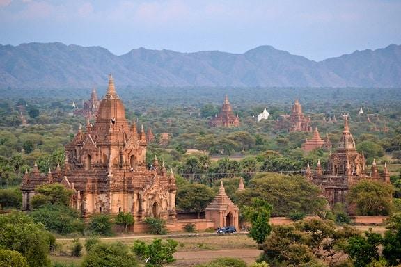 Shwesandaw Pagoda Sunset Bagan Myanmar