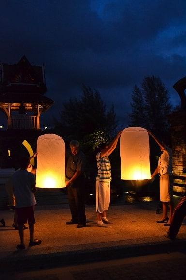 Thai Lantern Ceremony Le Meridien Khao Lak