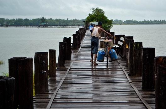 U Bein Bridge Mandalay Myanmar