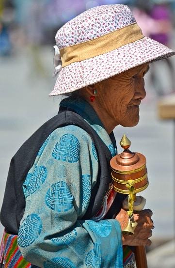 Tibetan Woman Lhasa Tibet
