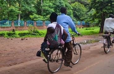 Bicycle taxi Salima Malawi