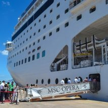 Cruising to Mozambique on the MSC Opera