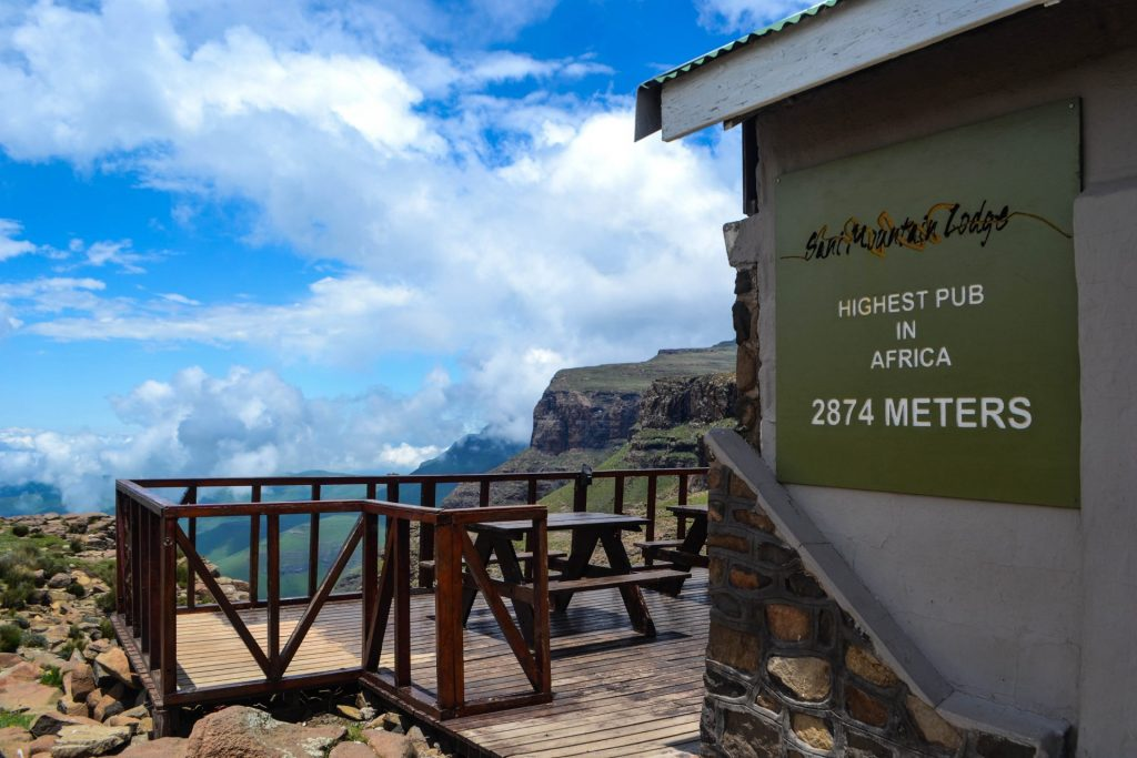 Highest Pub in Africa Sani Mountain Lodge Lesotho