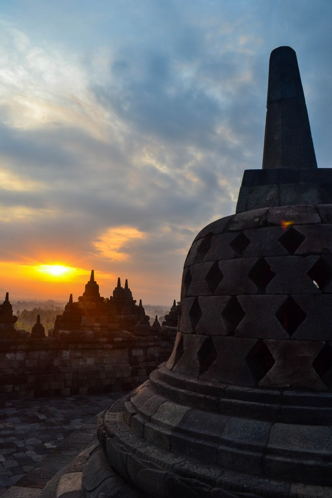 Sunrise at Borobudur Java Indonesia