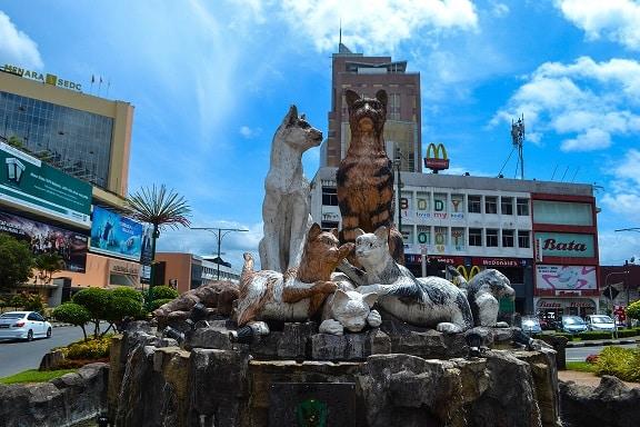 Cat monument Kuching Sarawak Borneo