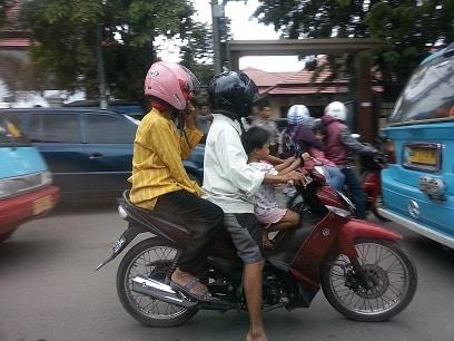 traffic Makassar Sulawesi Indonesia
