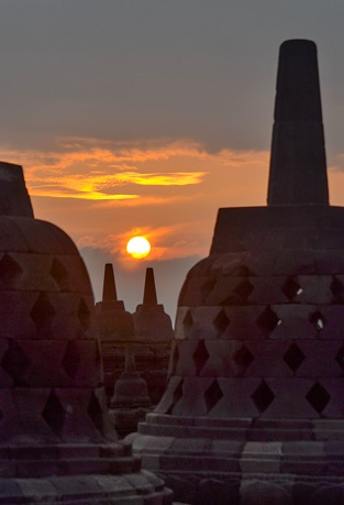 Sunrise Borobudur Java Indonesia