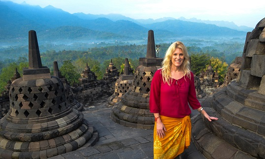 Sunrise at Borobudur Java Indonesia