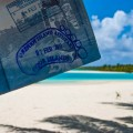 One Foot Island Post Office Aitutaki Cook Islands