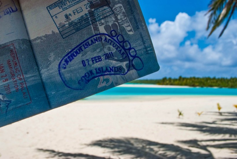 One Foot Island Post Office Aitutaki Cook Islands