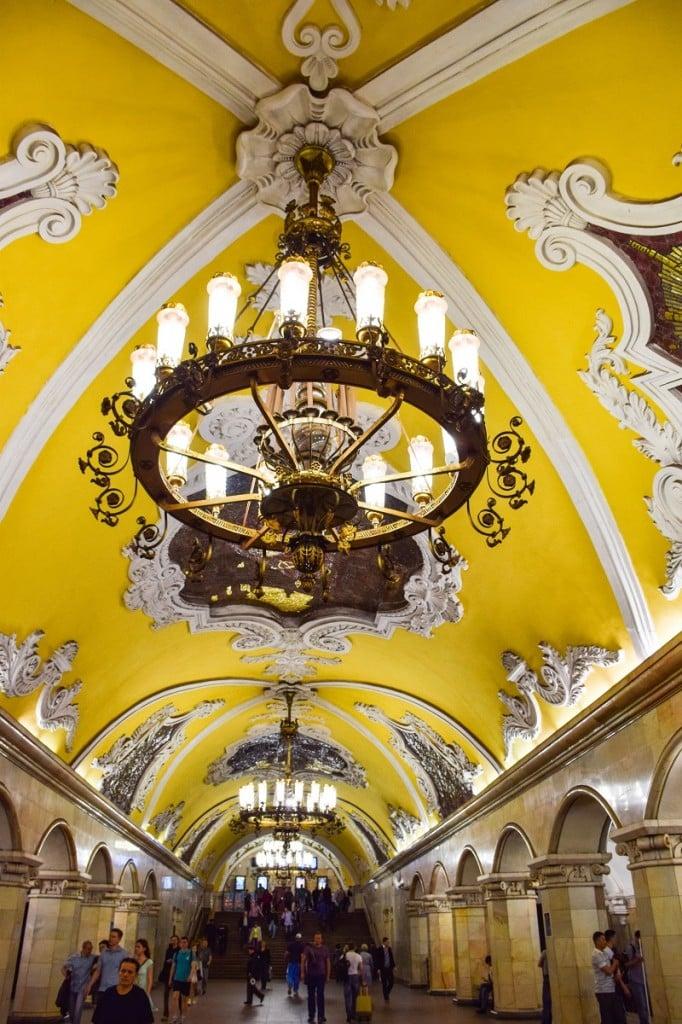 Komsomolskaya Metro Station Moscow
