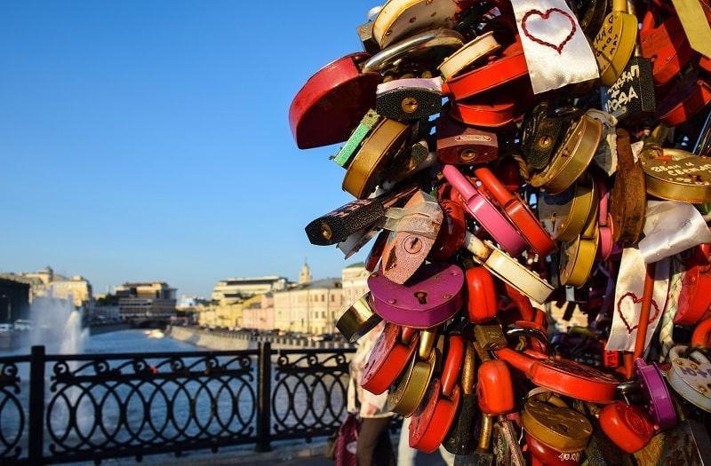 Bridge of Love Moscow Russia