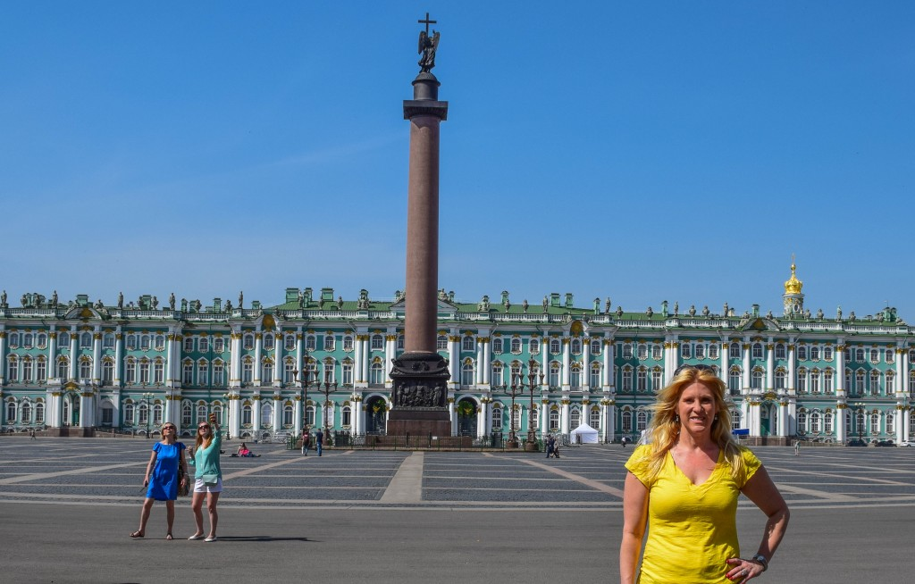 Palace Square Hermitage St Petersburg Russia