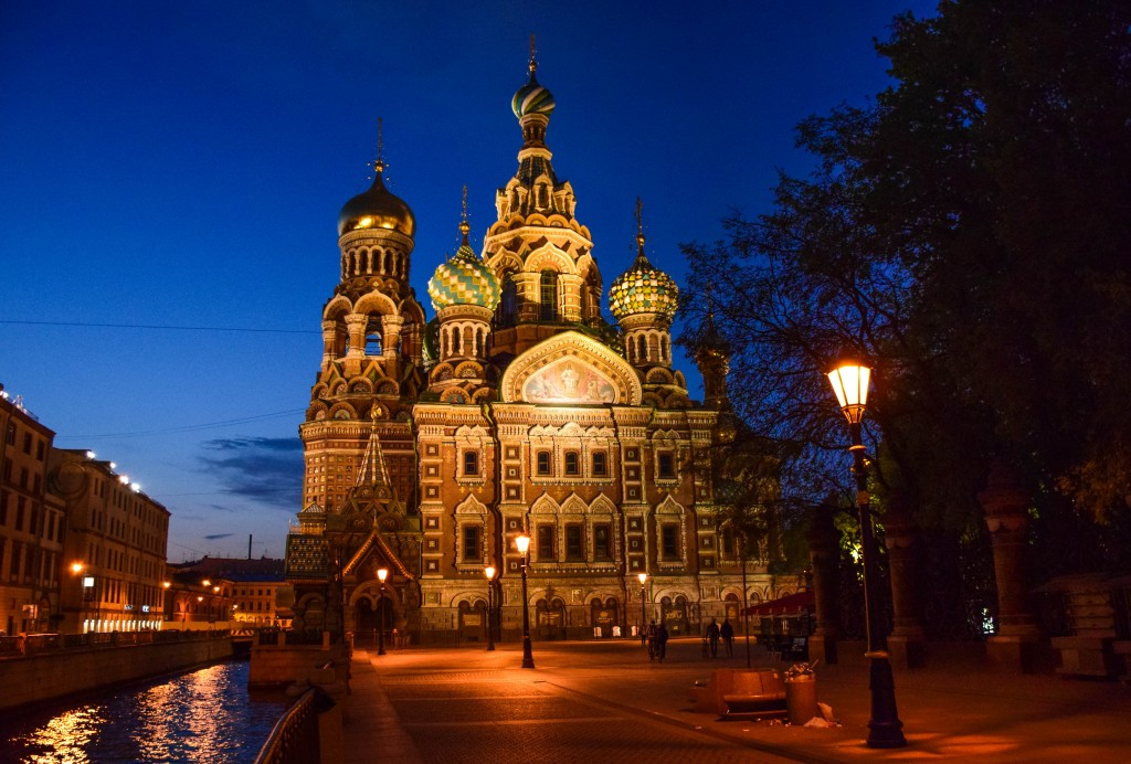 Church of our Savior on Spilled Blood St Petersburg Russia