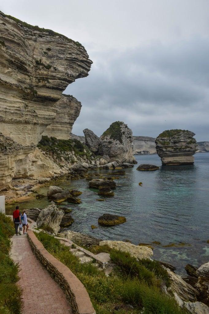 Sea stack Bonifacio Corsica