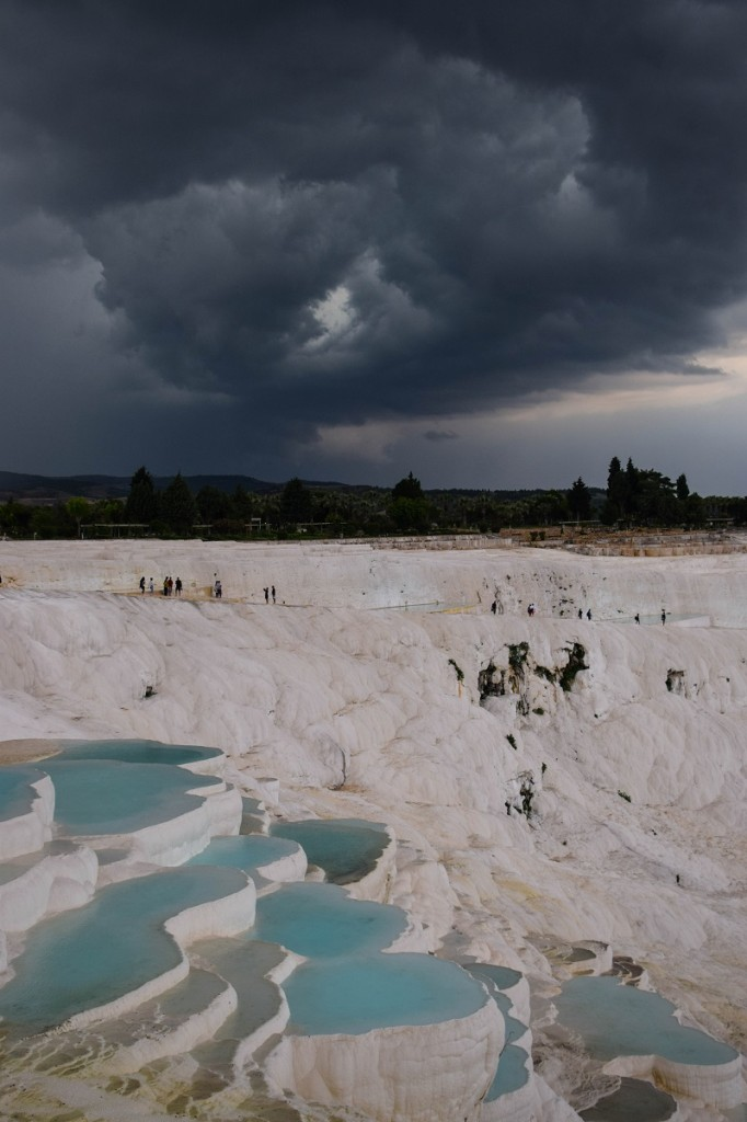 Storm clouds Pamukkale Turkey