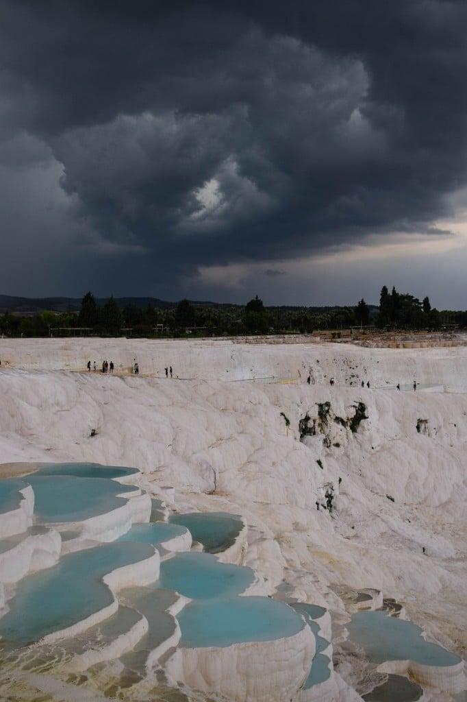 Storm clouds Pamukkale Turkey