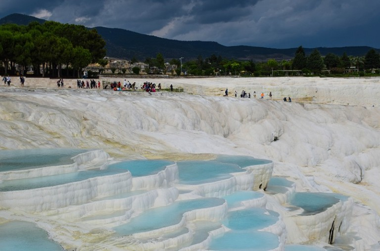 How to Visit the Travertine Terraces of Pamukkale Turkey