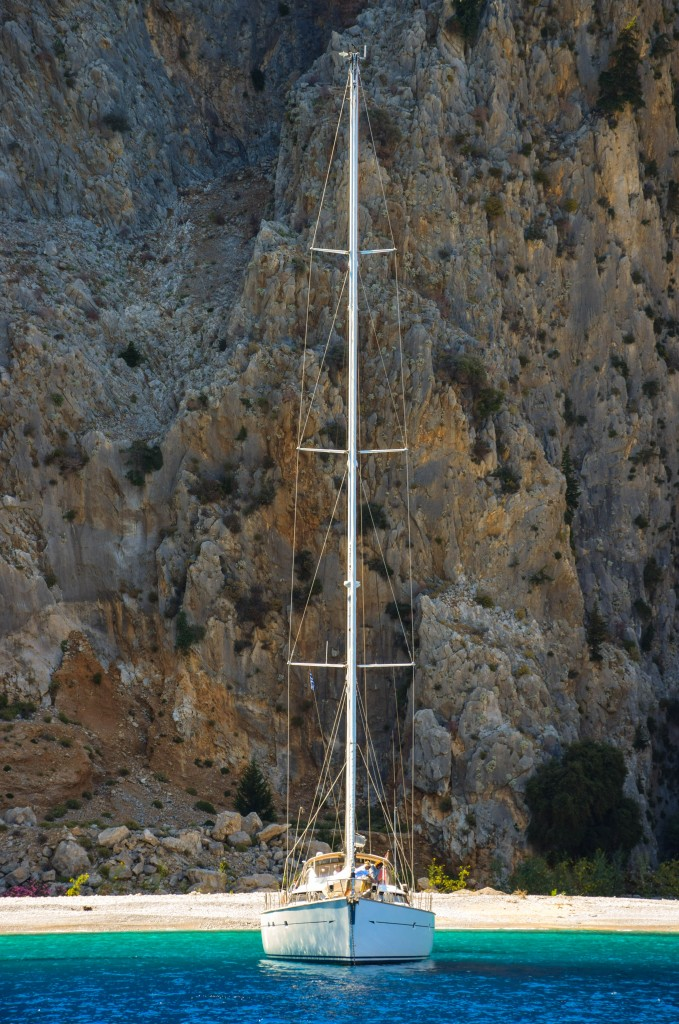 Sailboat Agios Georgios Symi Greece