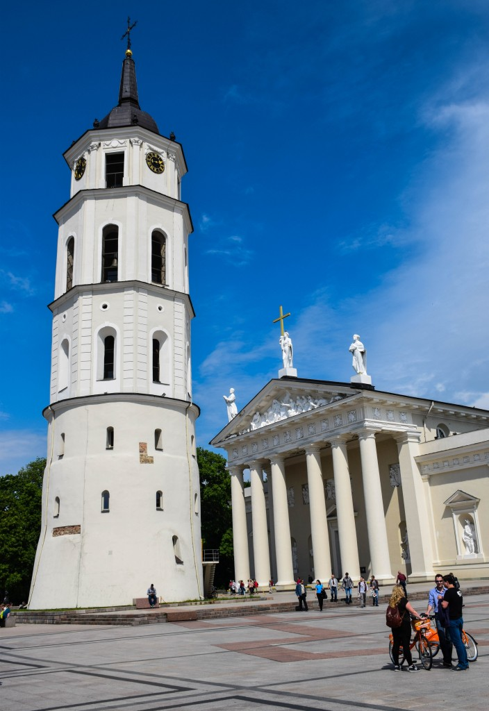 Vilnius Cathedral Basilica Bell Tower Lithuania