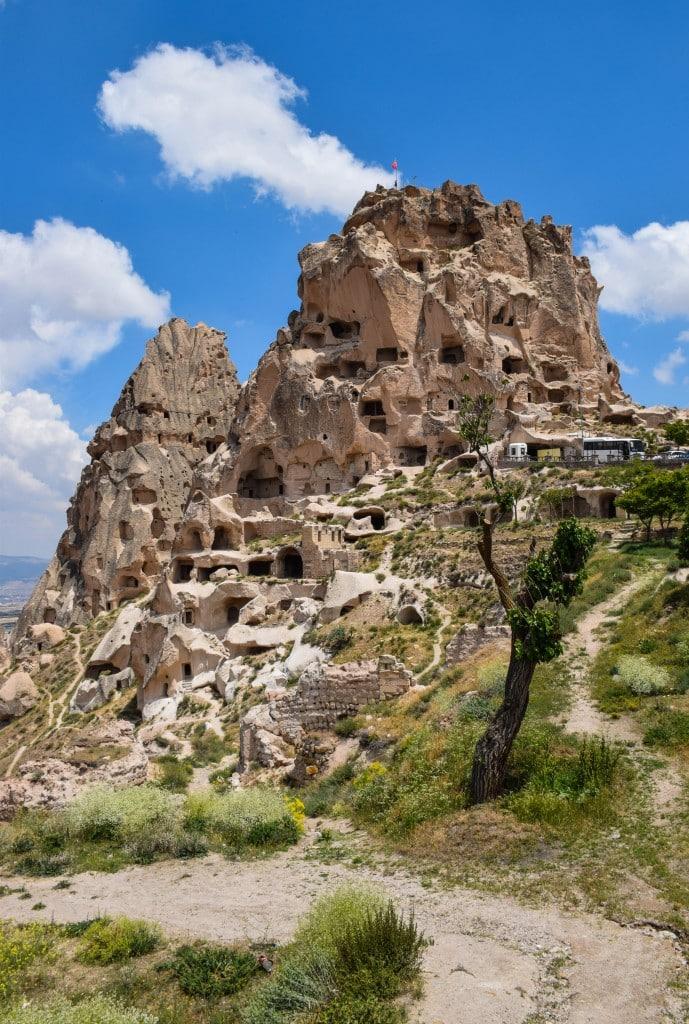 Uchisar Castle Cappadocia Turkey - Round the World in 30 Days  Round the Wor...