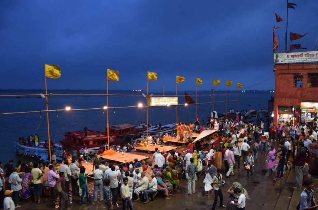 Ganga Aarti Ceremony Varanasi India