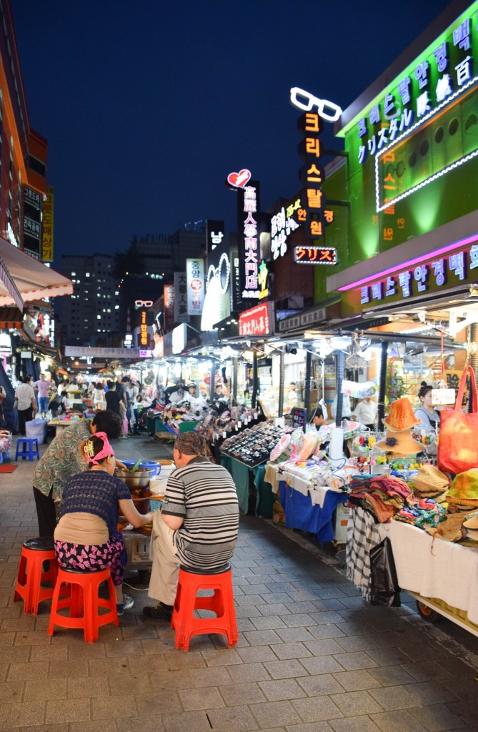 Namdaemun Night Market Seoul South Korea