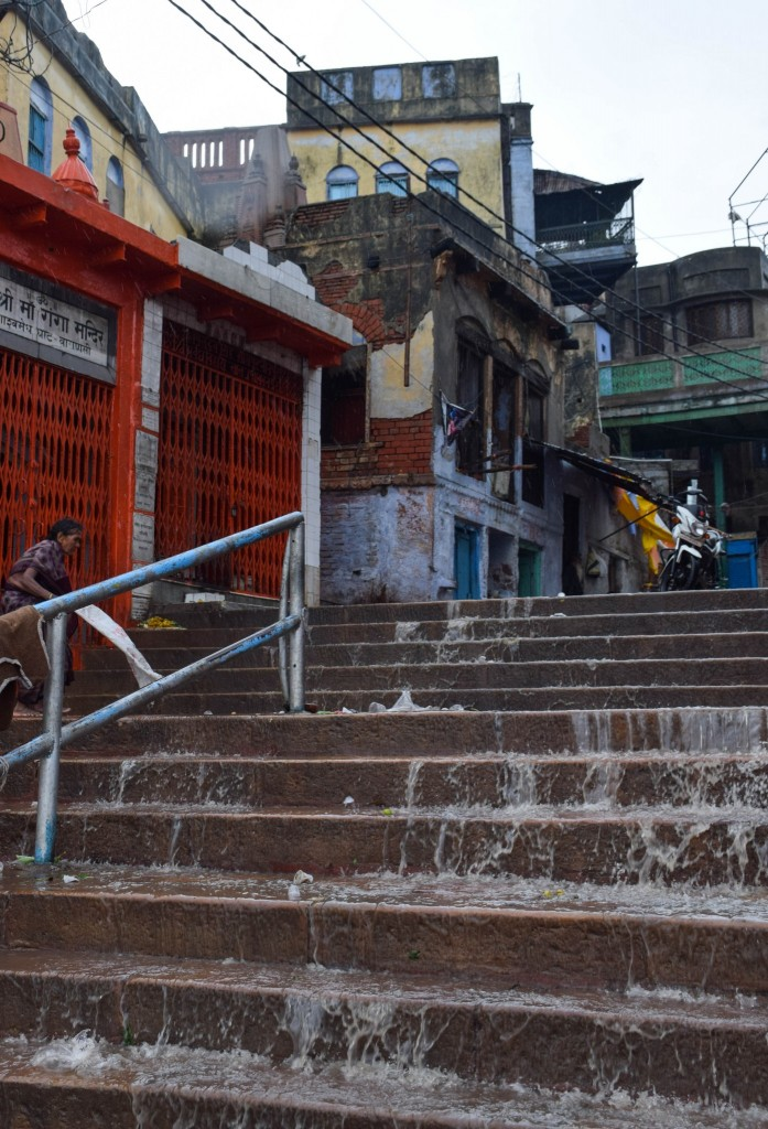 Rain Ghats Varanasi India