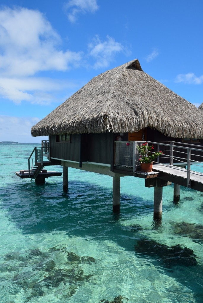 Honeymoon paradise in tahiti round the world in 30 days for Garden pool bungalow intercontinental moorea