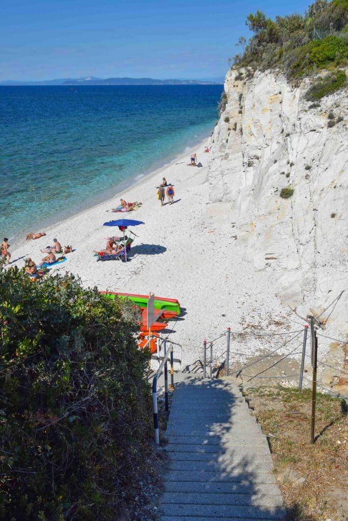 Capo Bianco Beach Elba Island