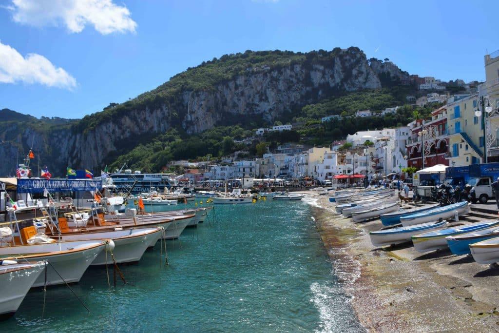 Marina Grande Boats Capri Italy