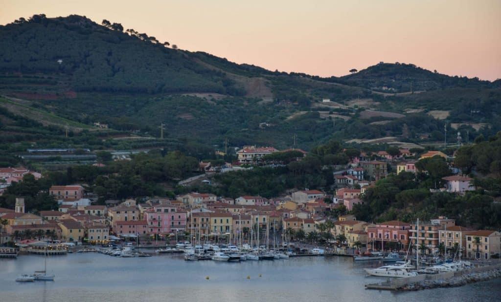 Porto Azzuro Sunset Elba Island Italy