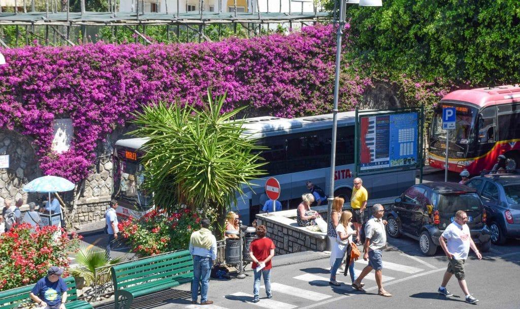 SITA Bus Sorrento to Positano Italy