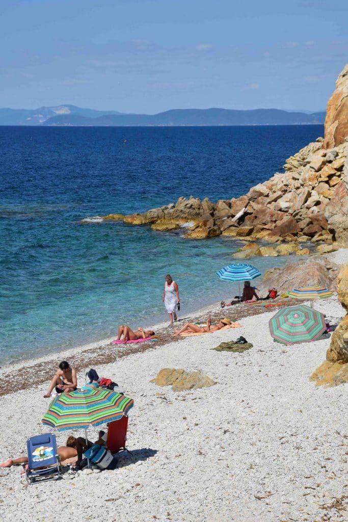 Sansone Beach Elba Island Italy