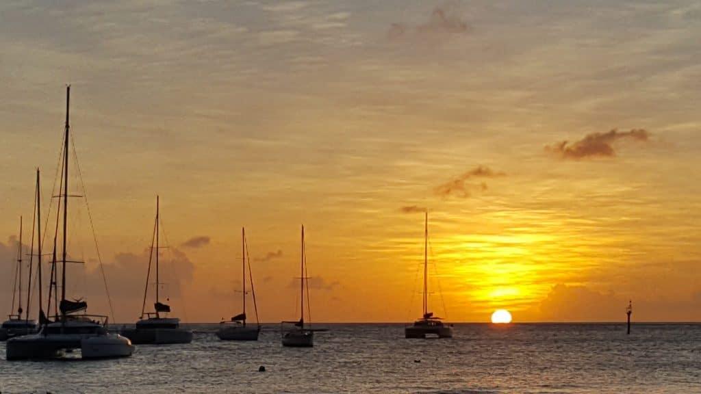 St Vincent Sunset Blue Lagoon