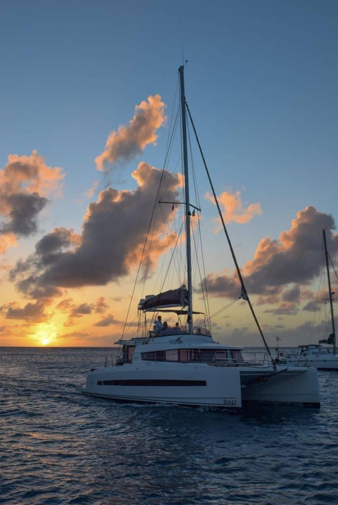 Sunset Catamaran Mayreau Grenadines