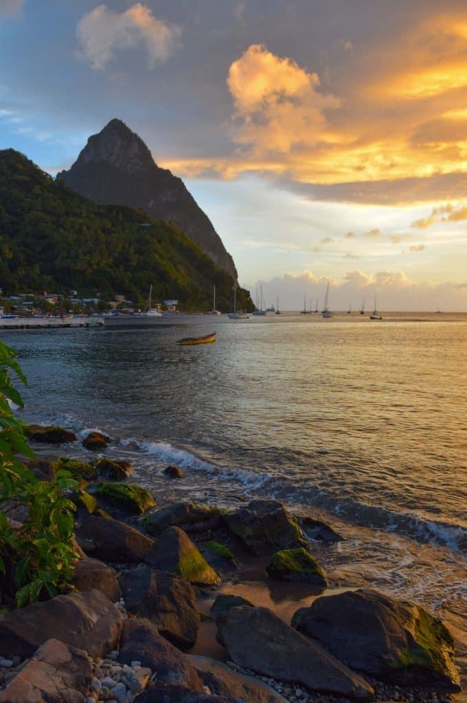 Sunset Soufriere Saint Lucia