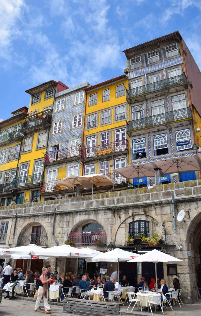 Tile Buildings Porto Portugal