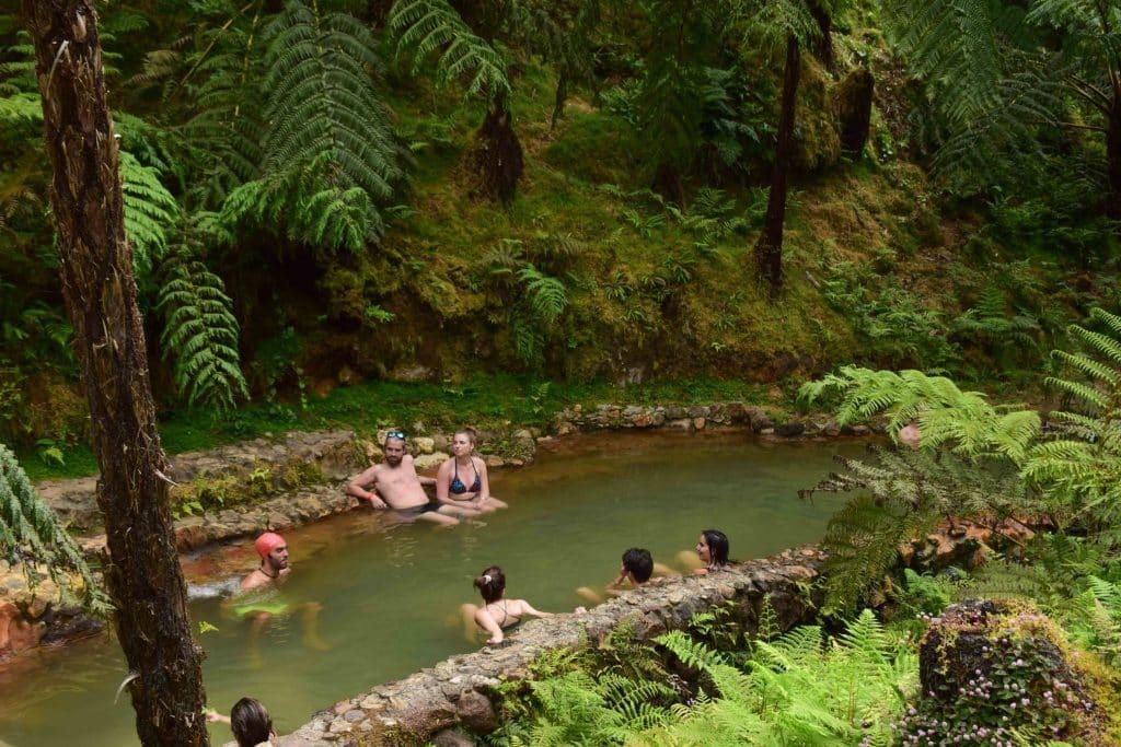 Caldeira Velha Azores Portugal