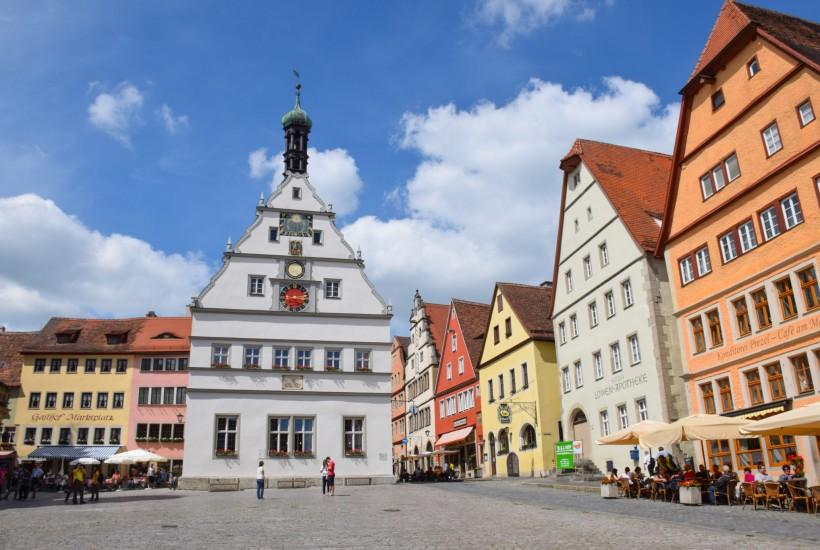 Market Square Rothenburg ob der Tauber Germany