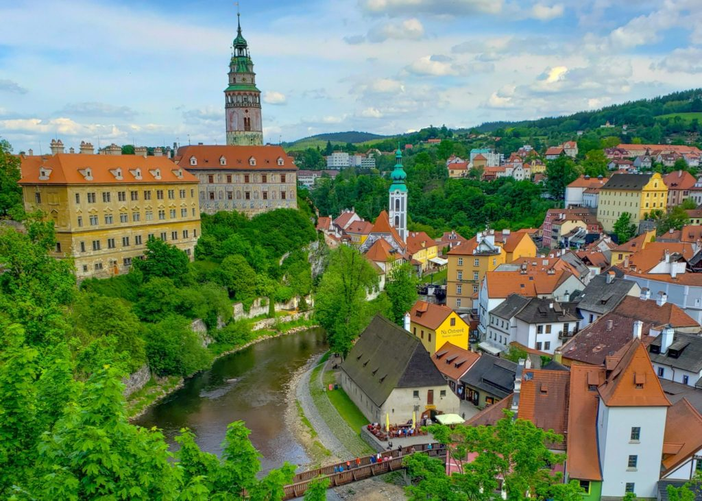 Cesky Krumlov Views Czech Republic