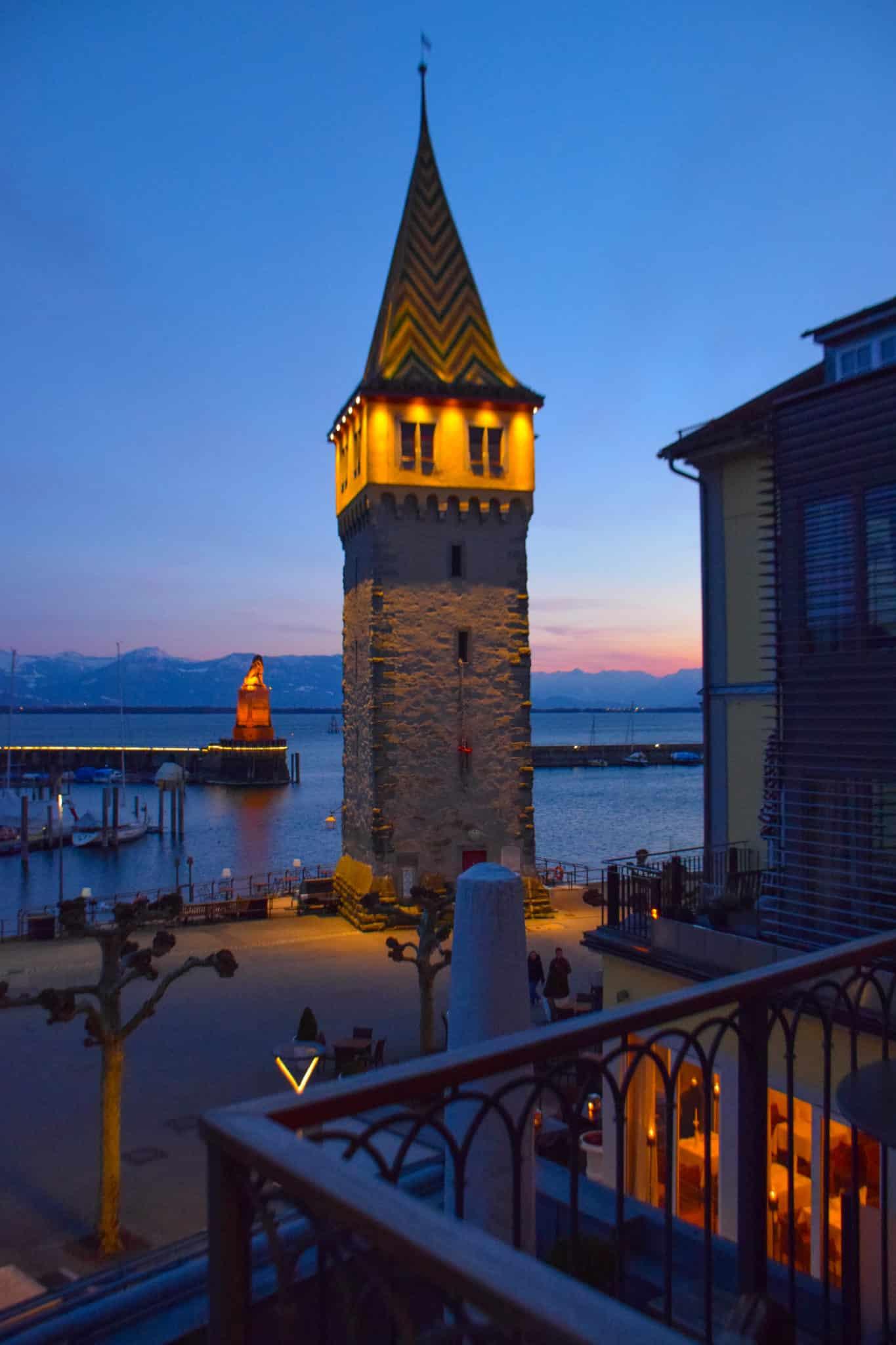 Mangturm Lighthouse Lindau Island Germany