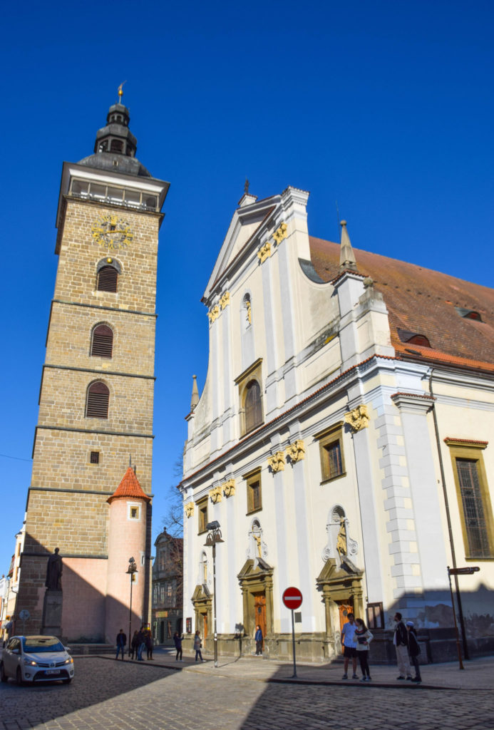 St Nicholas Cathedral Black Tower Ceske Budejovice