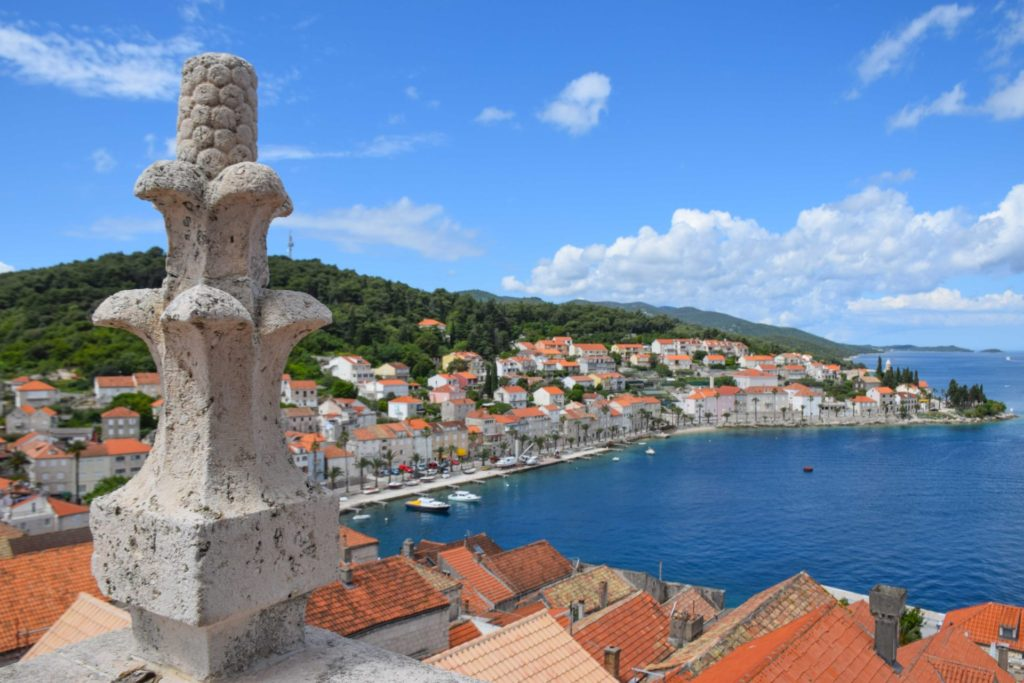 St Marks Cathedral Bell Tower Korcula Croatia