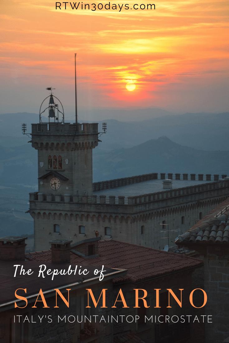San Marino Italy Sunset