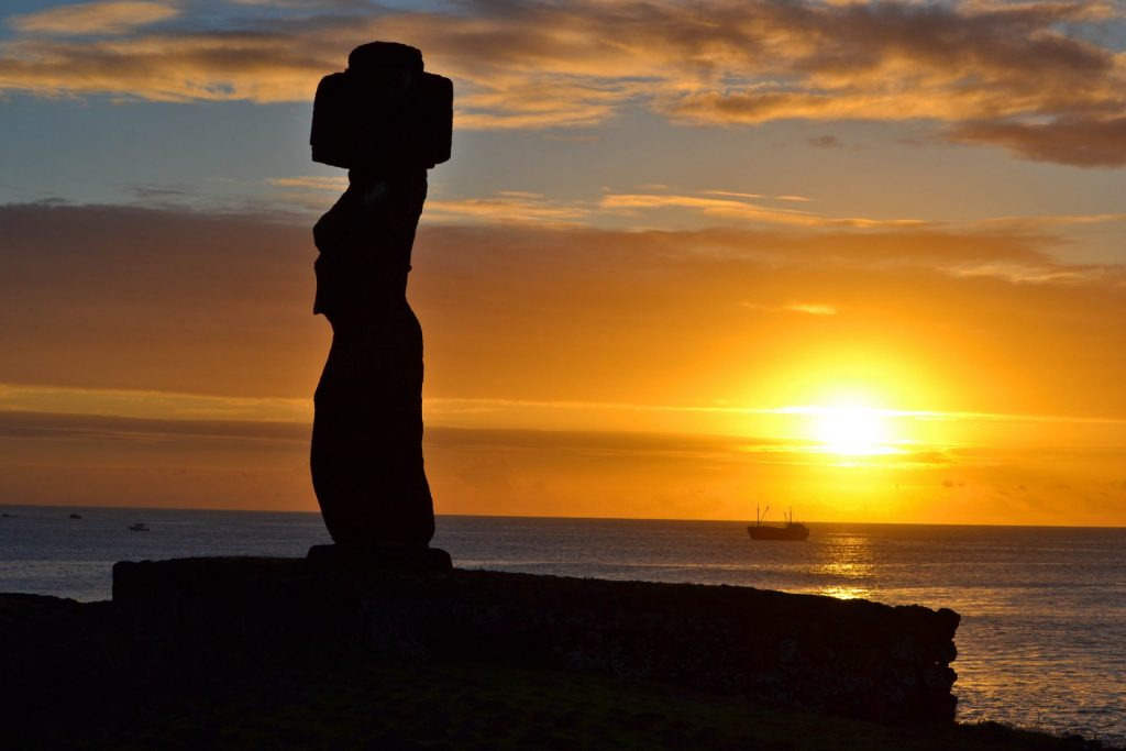 Easter Island Moai Sunset