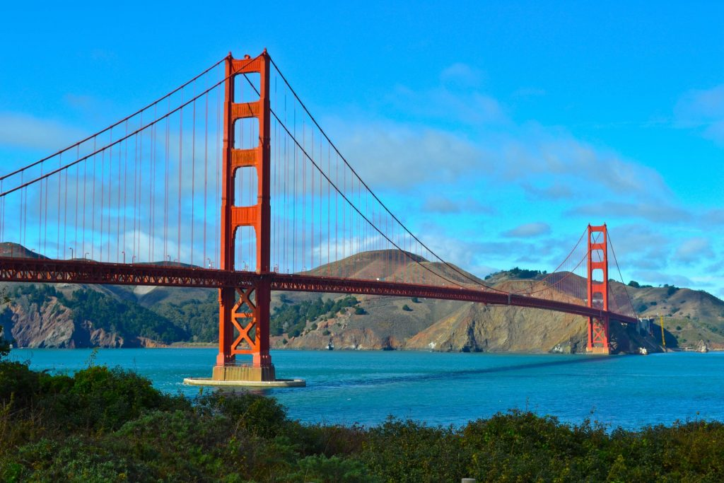 Golden Gate Bridge San Francisco Pacific Coast Highway Road Trip