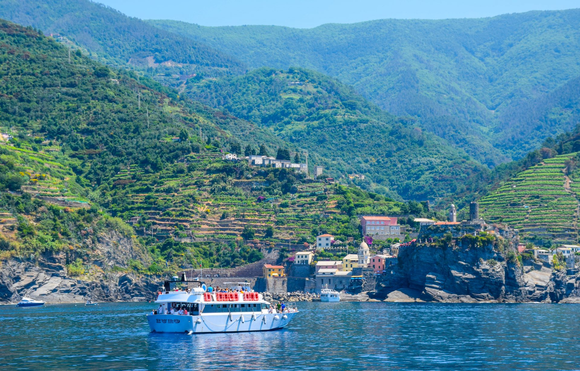 Cinque Terre Towns Ferry Italy