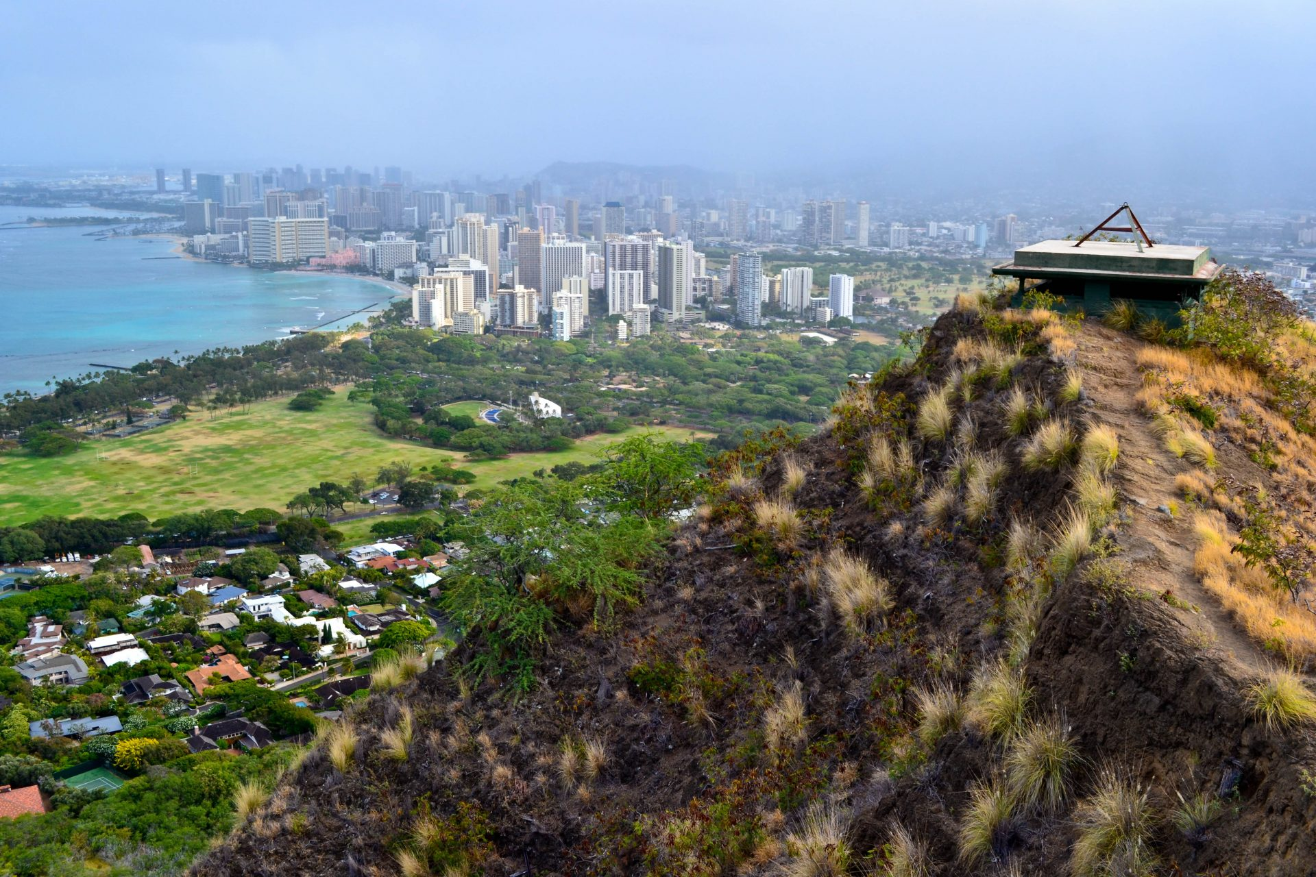 Diamond Head State monument Honolulu View Oahu