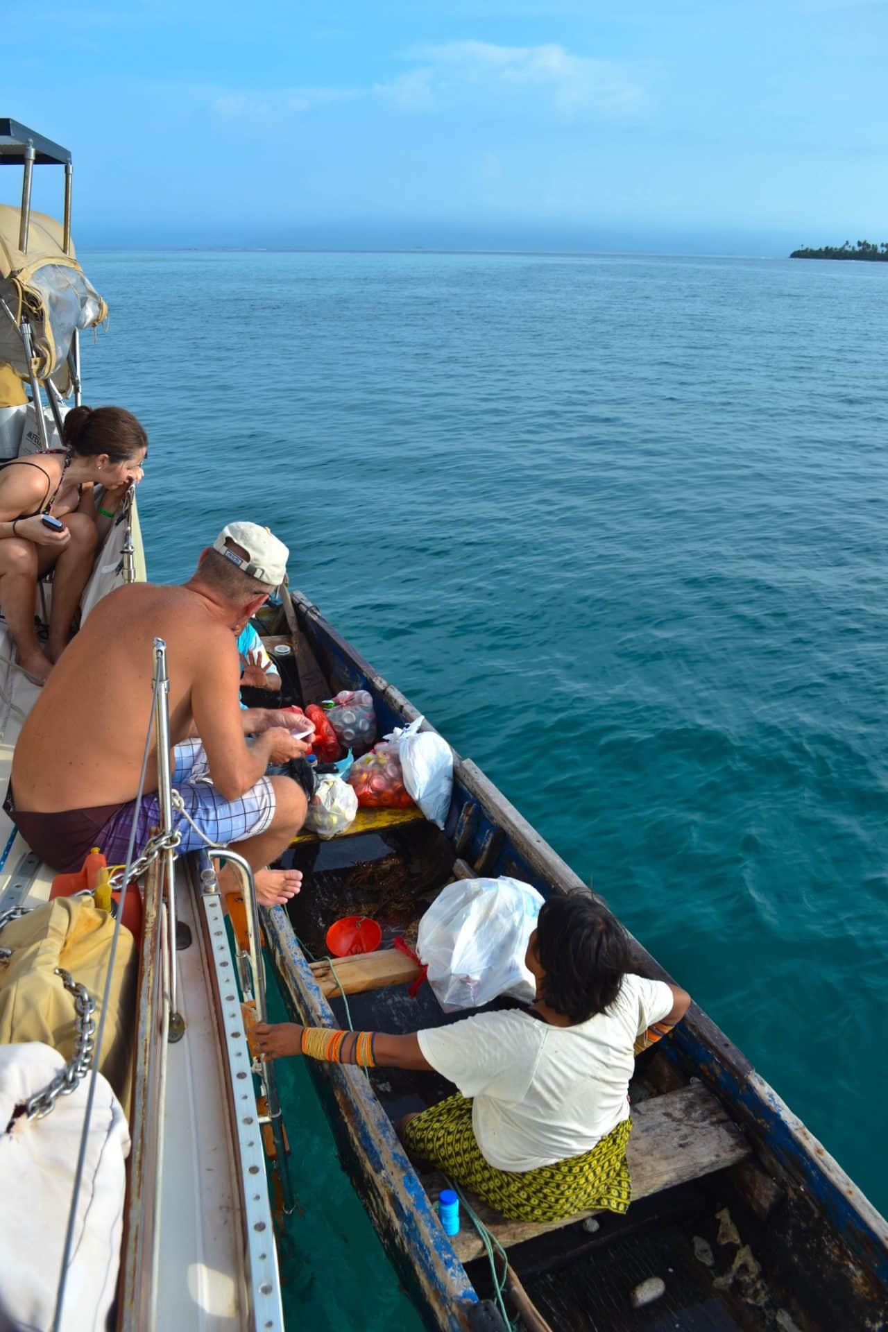 kuna yala boat san blas panama
